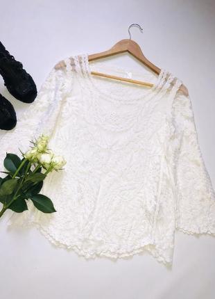 Красивейшая блуза сетка с вышивкой