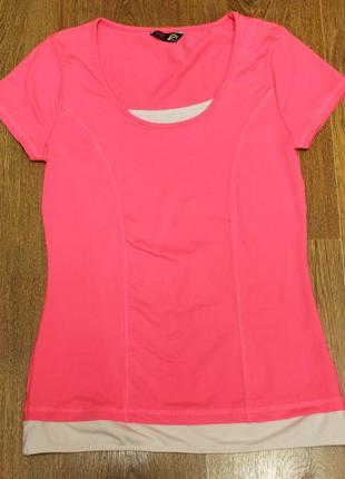 Розовая спортивная футболка f&f active 38р. ярко розового цвета