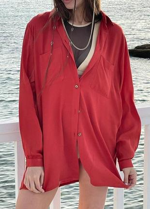 Сорочка оверсайз фасону / рубашка свободного кроя