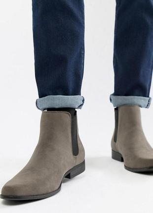 Натуральная замша классные челси туфли ботинки