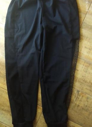 Скидка один день!!стильные женские спортивные брюки джогеры сетка по бокам