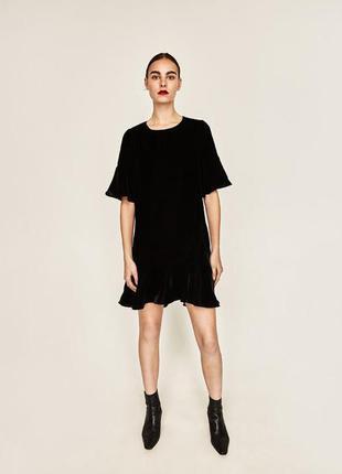 Базовое чёрное платье zara