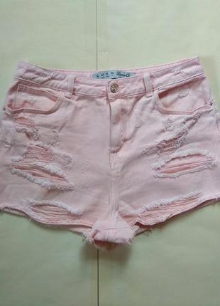 Стильные джинсовые шорты с высокой талией denim co, l размер.