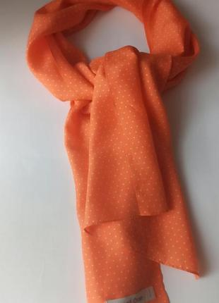 Симпатичный шелковый шарфик 100% шелк