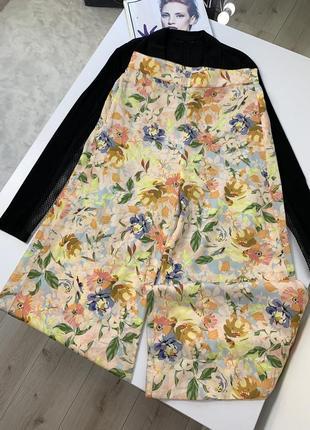 Красивые штаны кюлоты zara высокая посадка