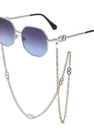 Солнцезащитные очки с цепочкой,  в стиле!!!,  vltn