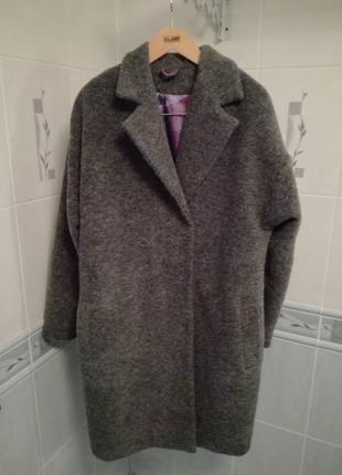 Шикарное невесомое теплое пальто из валяной шерсти 52-54