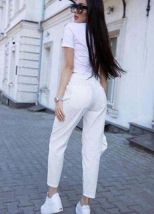 Лёгкие и очень комфортные льняные брюки s-xxxl