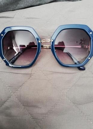 Wow синие новые роскошные очки, круглые линзы