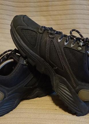 Комбинированные черные кожаные кроссовки reebok dmx ride 36 р. ( 23,5 см.)