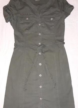 Платье-халат,сафари, h&m,хлопок