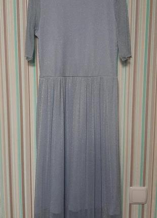 Платье миди с люрексом