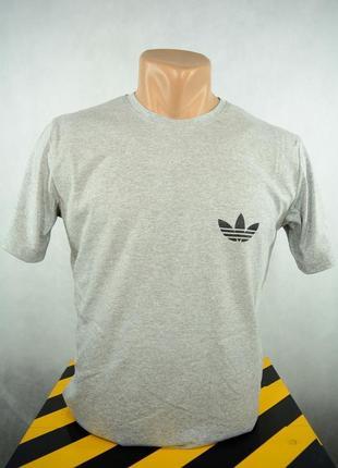 Футболка брендовая мужская серая adidas