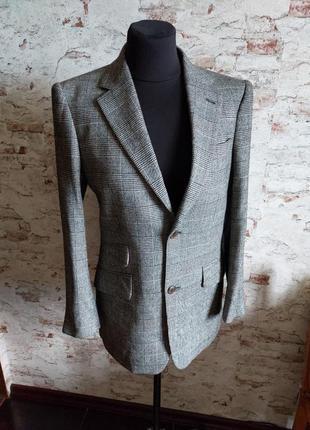 Пиджак гусиная лапка шерстяной теплый
