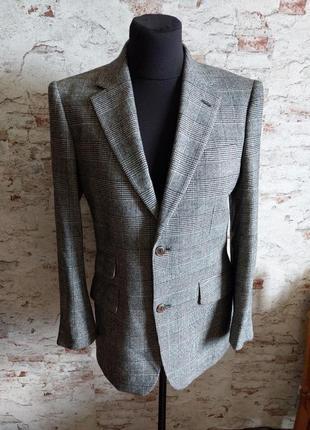 Пиджак гусиная лапка шерстяной теплый2 фото