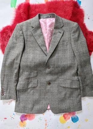 Пиджак гусиная лапка шерстяной теплый4 фото