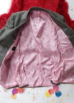 Пиджак гусиная лапка шерстяной теплый9 фото