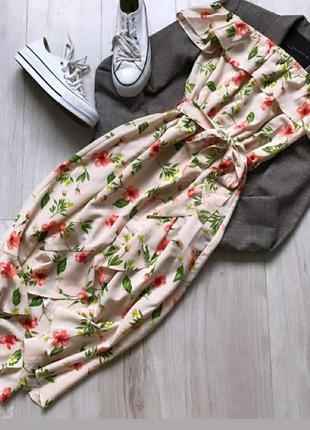 Платье цветы женское на плечи