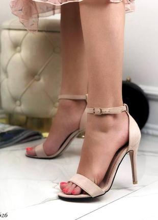 🔥 стильные замшевые босоножки с закрытой пяткой на каблуке