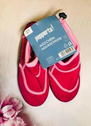 Тапочки для кораллов розового цвета, аквашузы, обувь для плавания, дайвинга, серфинга (32,33,34 р)2 фото