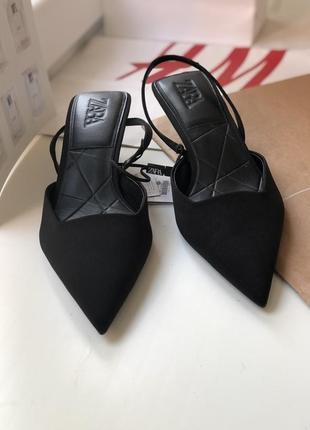 Туфли с маленьким каблучком zara