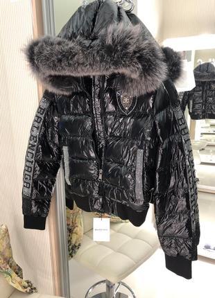 Пуховик куртка мех италия 🇮🇹