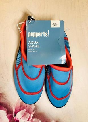 Тапочки для кораллов голубого цвета, аквашузы, обувь для плавания, дайвинга(33,35р)
