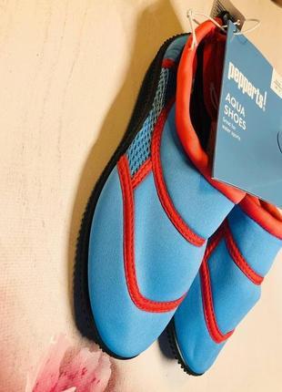 Тапочки для кораллов голубого цвета, аквашузы, обувь для плавания, дайвинга(33,35р)3 фото