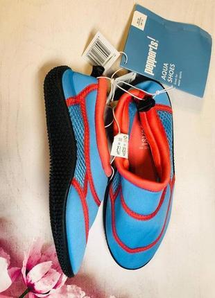 Тапочки для кораллов голубого цвета, аквашузы, обувь для плавания, дайвинга(33,35р)4 фото