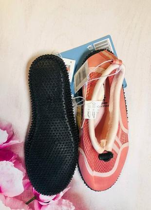 Тапочки для кораллов розового цвета, аквашузы, обувь для плавания, дайвинга 33,34р3 фото