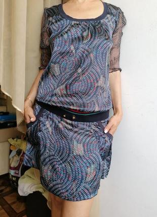 🎁dept атласное стильное платье