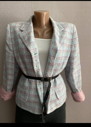 Пиджак твид в стиле шанель
