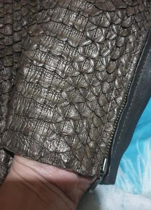 Штаны лосины леггенсы кожа кожаные питон