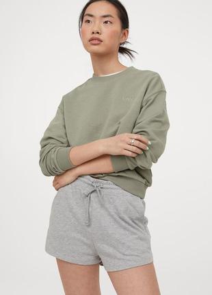 Женские шорты h&m англия m l xl с боковыми карманами оверсайзд базовые