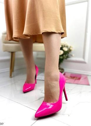 Лодочки туфли на шпильке с узким носиком
