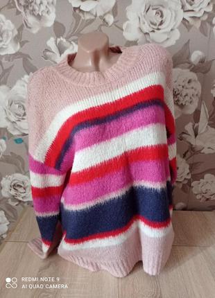 Радужный свитерок,рр44/46,реально больше