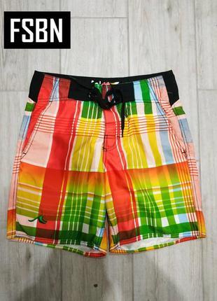 370. fsbn, яркие летние пляжные шорты, внутри сетка , р. xs