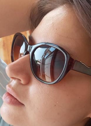 Стильные коричневые овальные очки очки восьмёрки