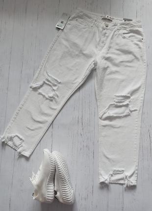 Новые белые прямые джинсы karol турция