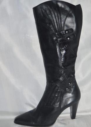 Чоботи демисезон шкіра marco tozzi розмір 38 39, сапоги кожа
