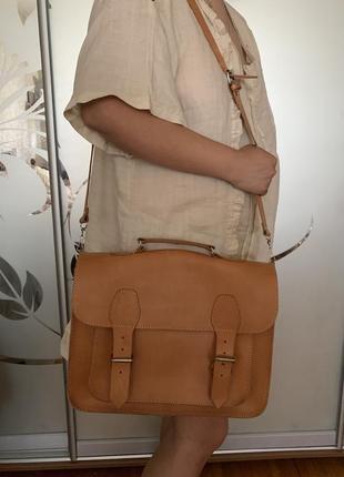 Кожаная сумка кожа портфель италия