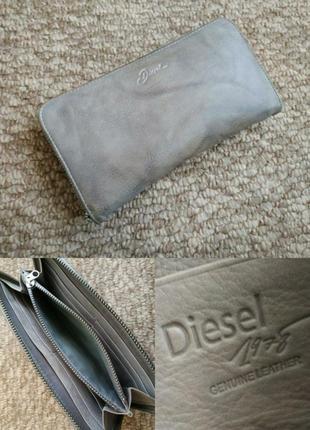 Кожаный кошелек на круговой молнии diesel оригинал портмоне кардхолдер