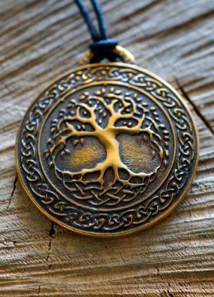 Подвеска бронзовая амулет дерево жизни