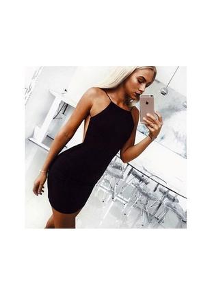 Плаття сукня міді вечірнє суконка з відкритою спинкою