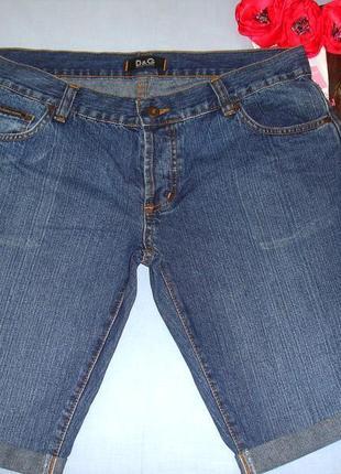 Женские шорты джинсовые размер 48 / 14 темно-синие бойфренды удобные средней длины