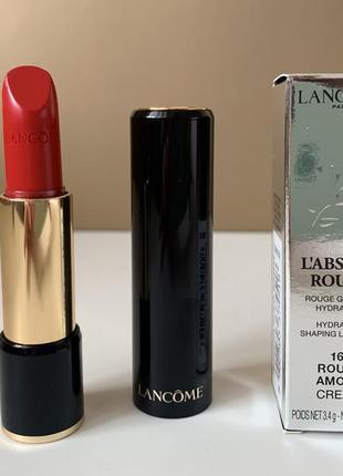 Lancôme l'absolu rouge cream 160 кремовая помада с увлажнением