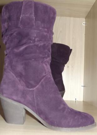 Сапоги, ботинки tulipano деми женские фиолетовые 38 размер
