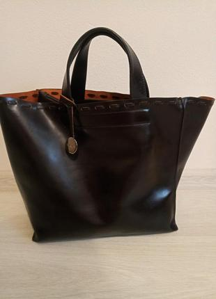 Сумка furla шоппер  цвета темного -шоколада