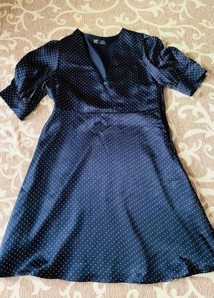 Платье zara в мелкий горошек