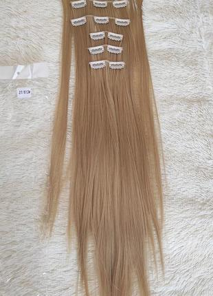 Волосы искусственные на 16 заколках, трессы